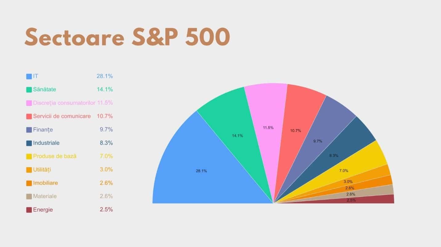 sectoare din structura indicelui S&P500